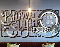 BROWN SUGAR BISTRO. Mural