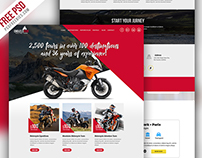 Motorcycle Expedition Company Website PSD