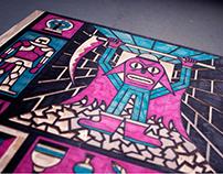 Dungeon Crawl / Woodcut / 2017