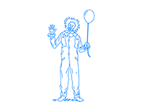 Clowns with balloons