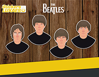 The Beatles Stickers LuXaEs