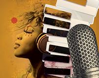 Feel Power of the music , Illustration collage MusicArt