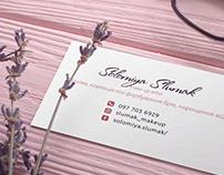 Business card for makeUp-artist