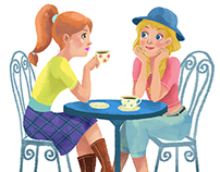 Girls Illustration for editorial and magazines