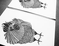 'Awakenings' Linoleum Print
