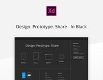 AdobeXD in Black