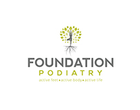FOUNDATION PODIATRY // LOGO // BRANDING