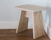 Oak Stool / Small Table Design
