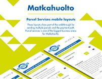 Matkahuolto Parcel Service UI & mobile layout