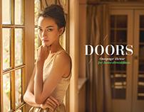Wood Premium Doors - clean flat landing page