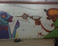 Unlawful wall by Ribok & Ko from doko cru