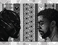 Black Panther & King T'Challa Vector Portrait Collab