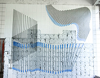 ABSTRACT TAPE ART // FLOWING STRUCTURE