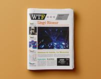 WTF*** news paper