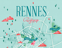 Rennes City map