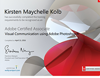 Adobe Photoshop Certification
