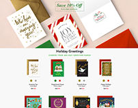 Holiday Greeting Cards Page
