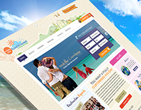 Tour Website Home page Design