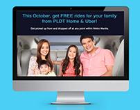 PLDT x UBER web design