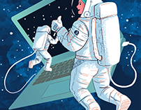 Cosmonaut Illustration