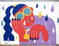 """""""Tears for Fears"""" Street Art"""