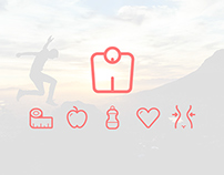 Fitness Line Icons Freebie