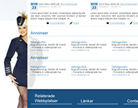 Search Engine Layout for Swedish Search Engine