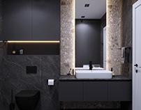 Bath in gray tones