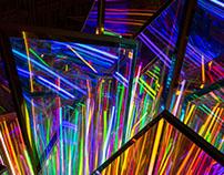 Infinity crystal light installation