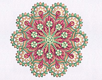 MAGNIFICENTLY DETAILED QUILTING EMBROIDERY DESIGN