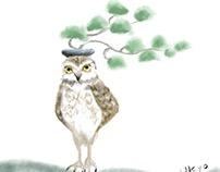 Bonsai Owls (digital)