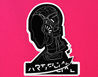 Robot Head Sticker
