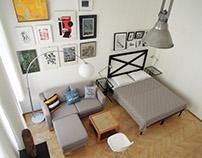 Studio apartment - interior design