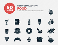 JI-Glyph Food Icons Set