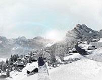 Ski resort - Photoshop compositing