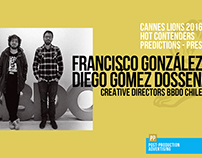 Francisco / Diego - Predictions Cannes 2016 - Press