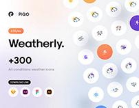 Weatherly Flat icons