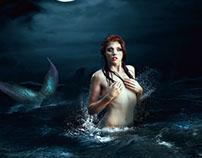 Mermaid Underneath the moon