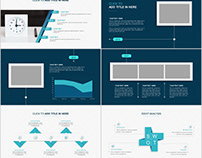 Blue business Company Report PowerPoint template