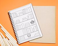 FREE CONTENT - Bookshelf bullet journal inspiration