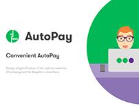 Megafon® AutoPay gamification design & app UI