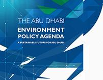 Abu Dhabi Environment Policy Agenda Print Design