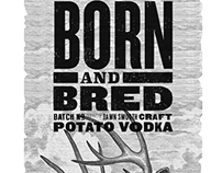 Born & Bred Vodka Label Illustrations by Steven Noble