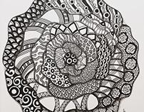 """Zen Rose"" artwork II"