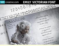 Emily Victorian font - elegant, handwritten, decorative