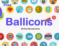 Ballicons 3: Free Flat Web Icons