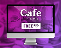 Cafe Theme - Free PSD Download
