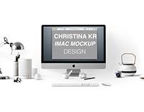 iMac free Mockup with editable smart objects