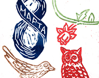 Linocut cards for women's day / открытки к 8 марта