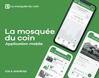 La mosquée du coin - Design UI / UX application mobile